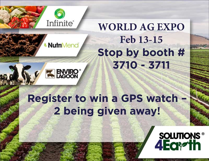 Join us at the World Ag Expo being held at the International Agri-Center in Tulare California
